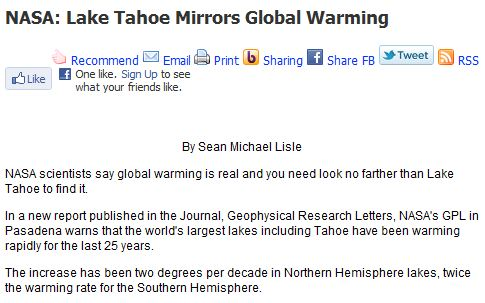 """""""NASA scientists say global warming is real""""   Real Science"""