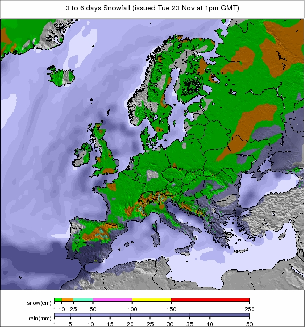 europesnownext3to6days ca3b 1 Thing Of The Past : Europe Snow Forecast
