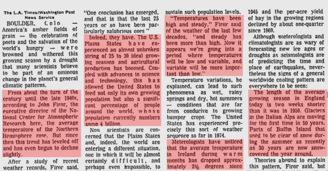 Does anyone remember in the eighties when people were worried about global freezing?