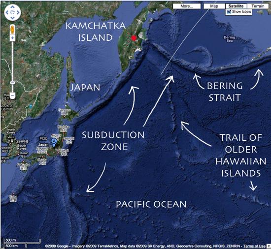 Experts Predict Japan's Mount Fuji Will Erupt Soon Pacific Ocean Underwater Map