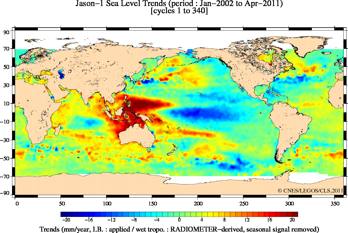 Record Sea Level Rise Rates Real Science - Global sea level rise map