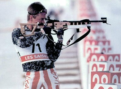 Biathlon usually refers specifically to the winter sport that combines