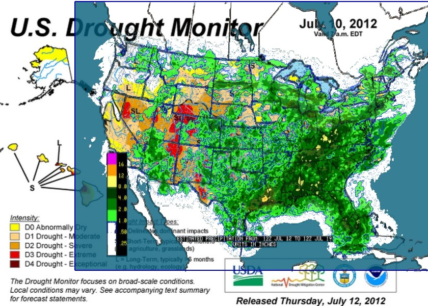 US Drought Monitor US Worse Than The Dust Bowl Real Science