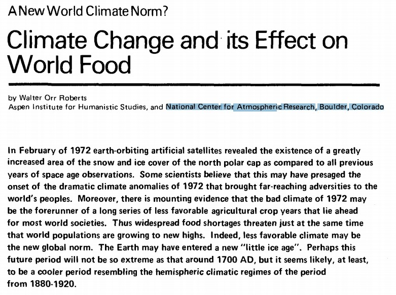 The 1970 S Global Cooling Compilation Looks Much Like