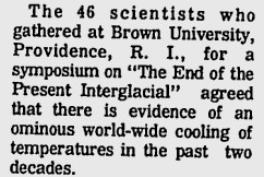 1973 : 100% NSF Global Cooling Consensus