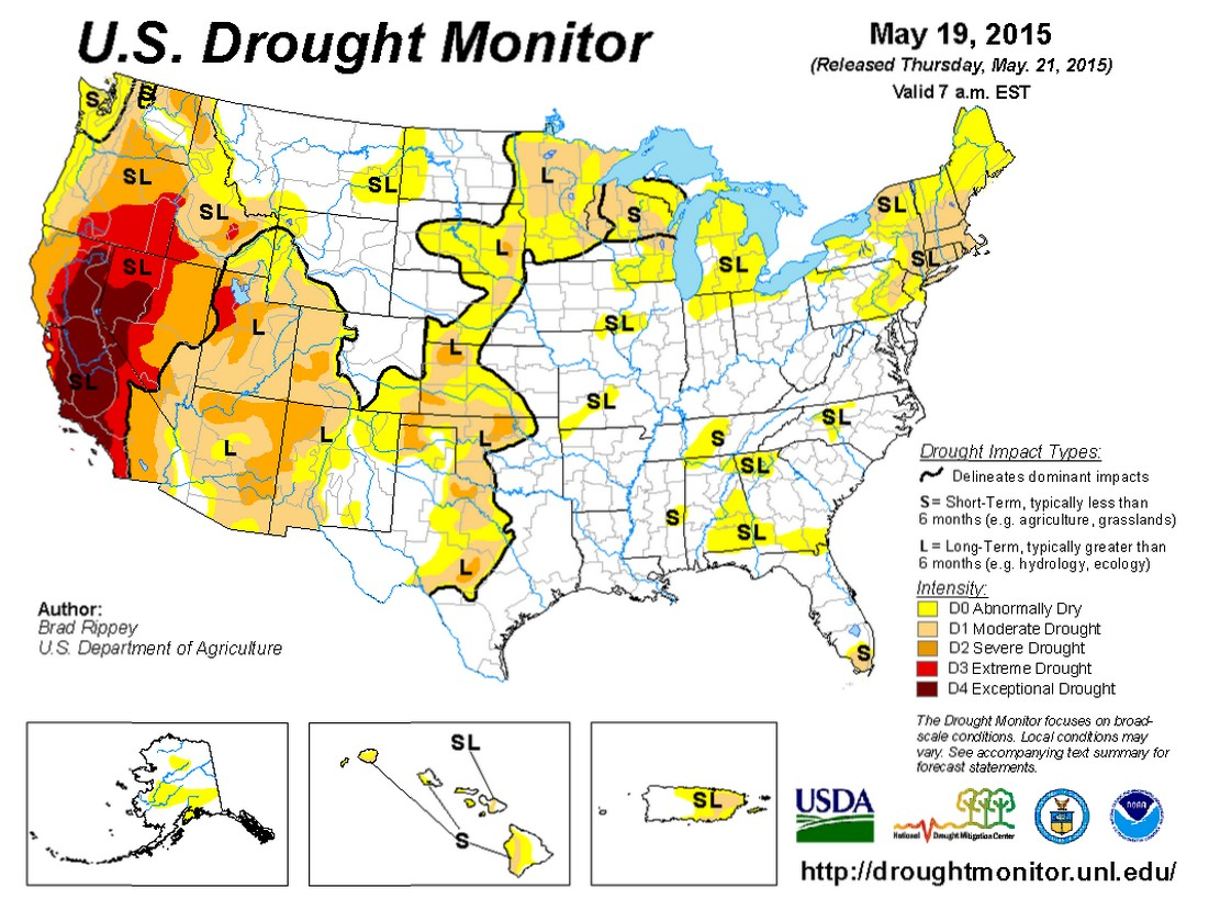 Drought April State Of The Climate National Centers For - Us department of agriculture california drought map history